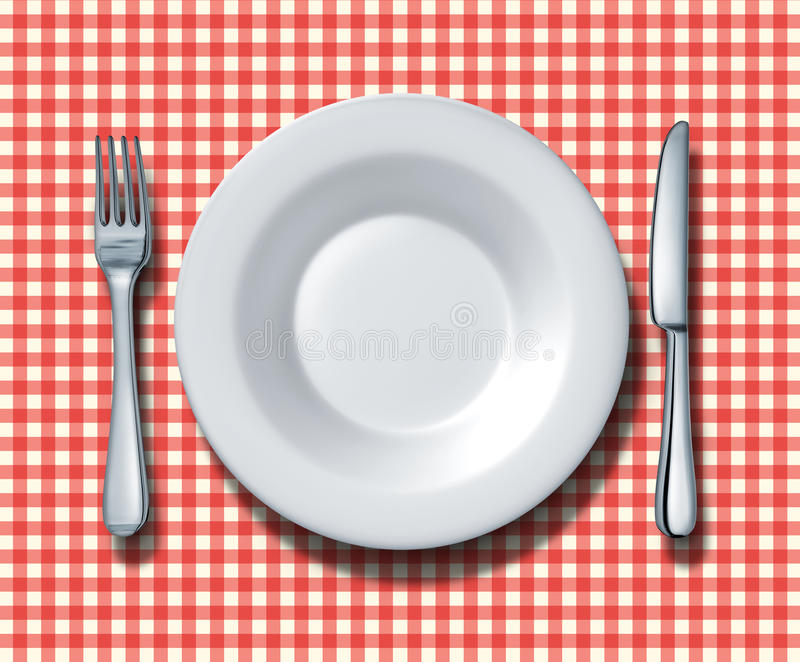 Download Family Restaurant Place Setting Stock Illustration - Illustration: 23315720