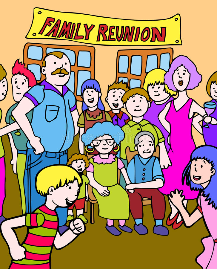 Download Family Reunion stock vector. Image of extended, clipart - 9437331