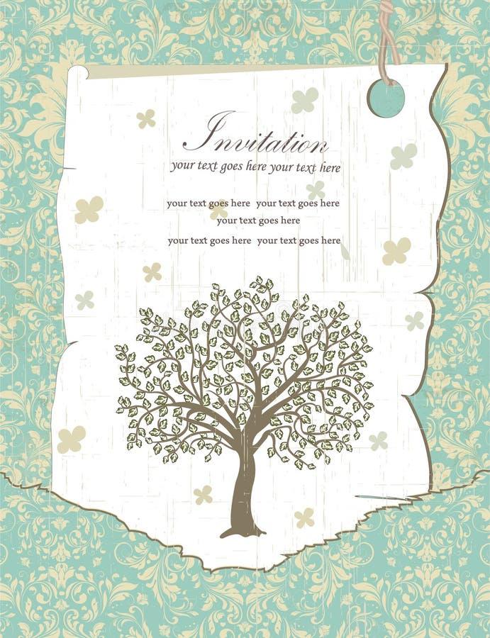 Family Reunion Invitation Card Stock Vector Illustration of tree