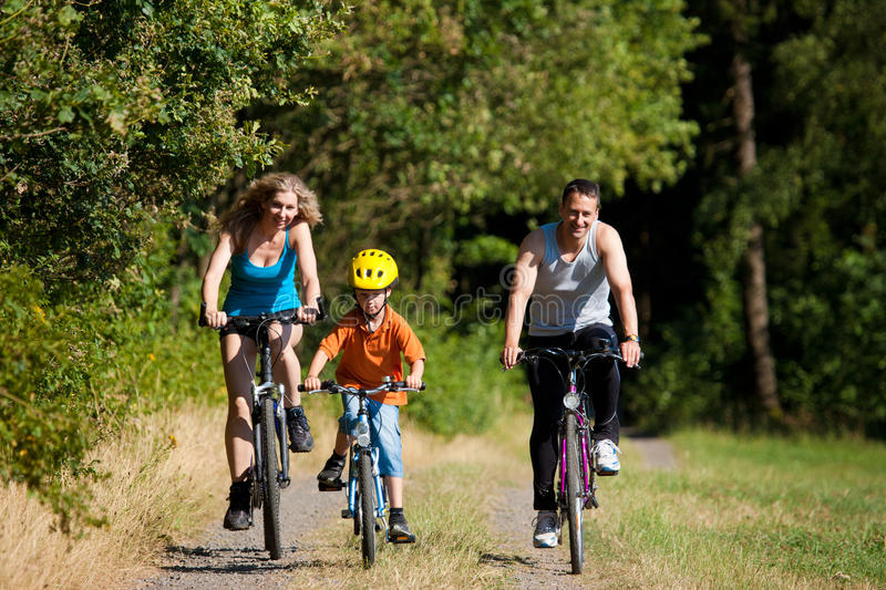 Download Family Riding Bicycles For Sport Stock Image - Image of recreation, outdoor: 16093043