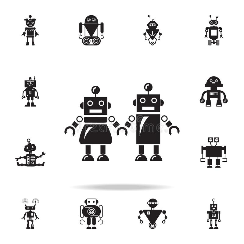 family of robots icon. Detailed set of robot icons. Premium graphic design. One of the collection icons for websites, web design, royalty free illustration