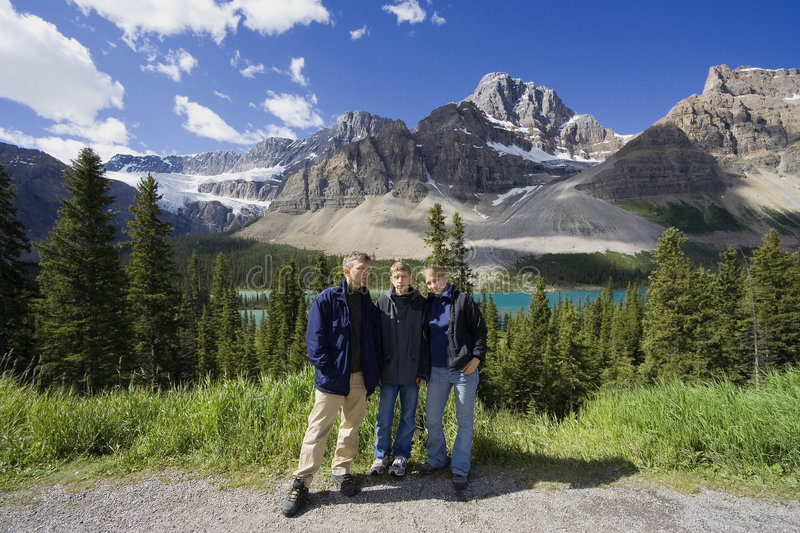 Family In The Rockies Royalty Free Stock Image