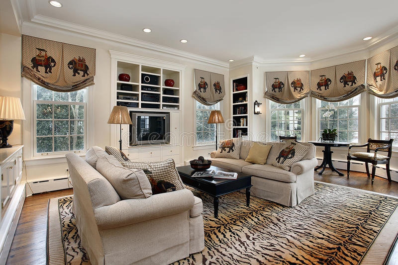 Download Family Room With Built In Cabinets Stock Image - Image: 13917725