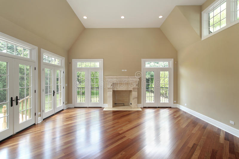 Download Family Room In New Construction Home Stock Photo - Image: 12655188