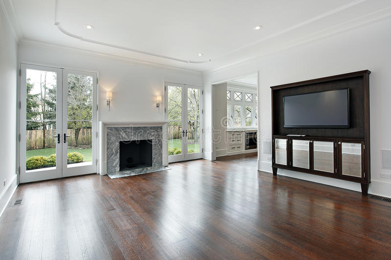 Download Family Room In New Construction Home Stock Image - Image: 16476353
