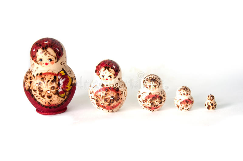 Family of Russian nested dolls royalty free stock photos
