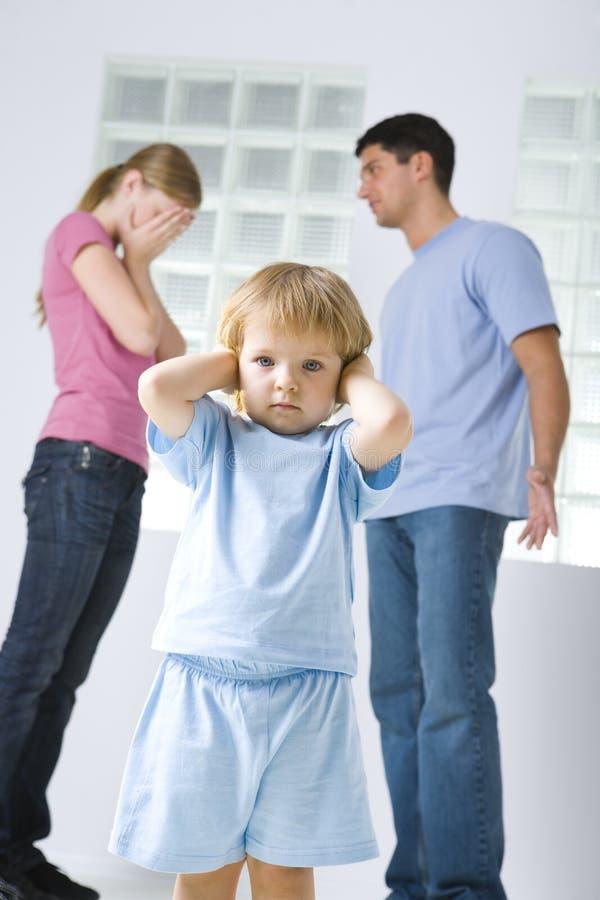 The family's quarrel stock photos