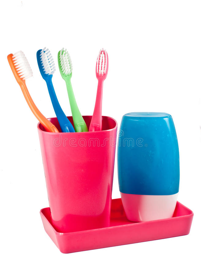 Download Family S Tooth Brushes And Tooth Paste Stock Image - Image of morning, brush: 14308739