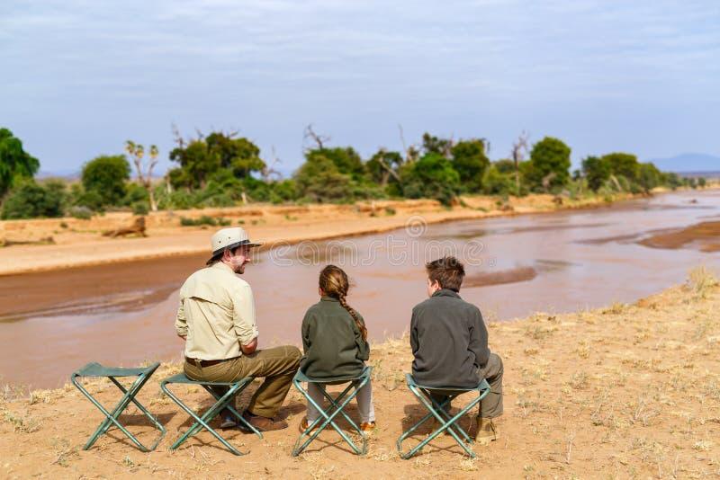Family safari in Africa royalty free stock photos