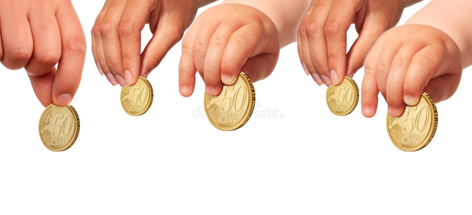 Family save money for future. Invest concept stock photography