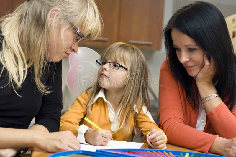 Family schooling stock photo
