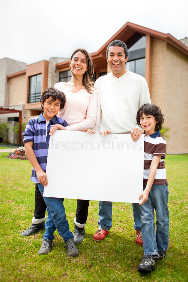 Family selling a house
