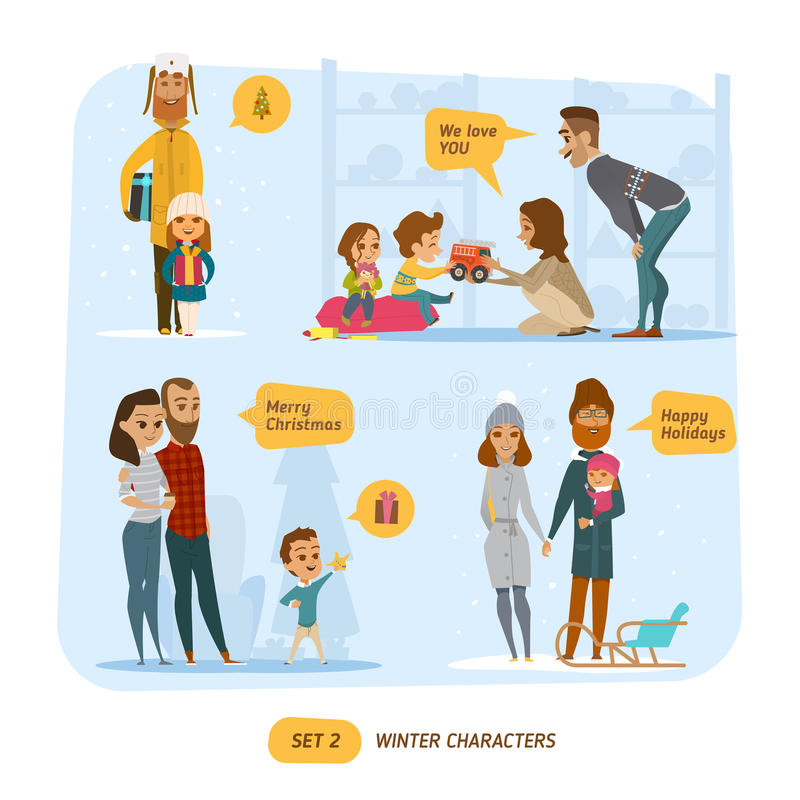 Family set royalty free illustration