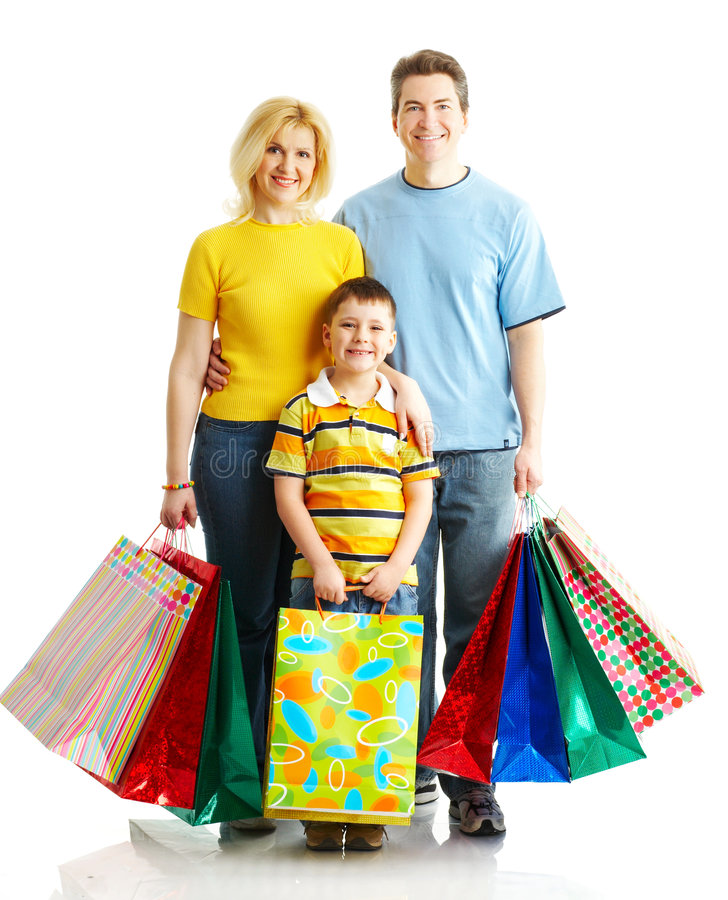 Download Family shopping stock image. Image of infant, background - 9184225
