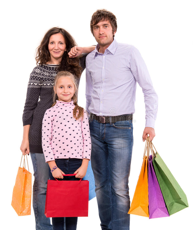 Download Family With Shopping Bags Royalty Free Stock Photos - Image: 34328458