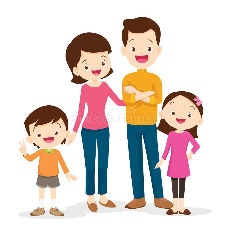 cute family portrait vector illustration
