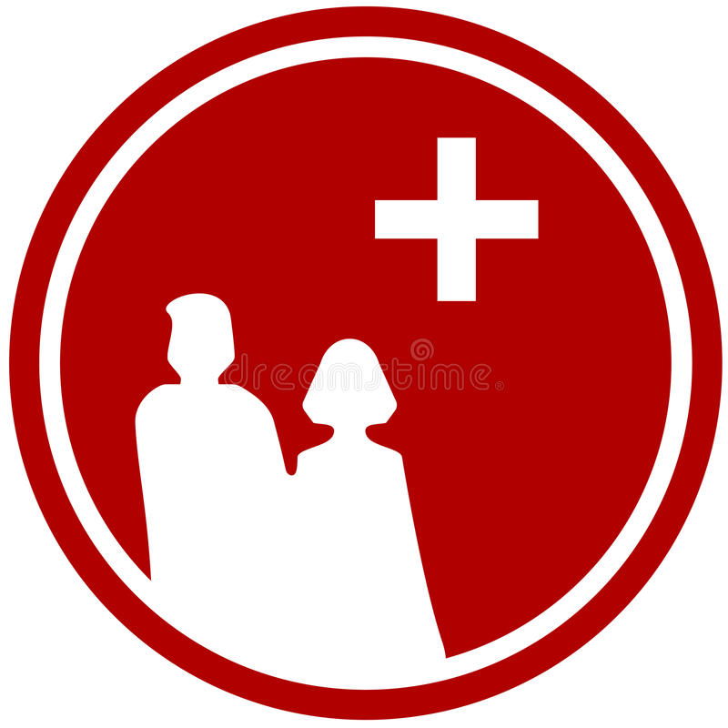 Family Silhouette And Medical Symbol Stock Vector Illustration Of