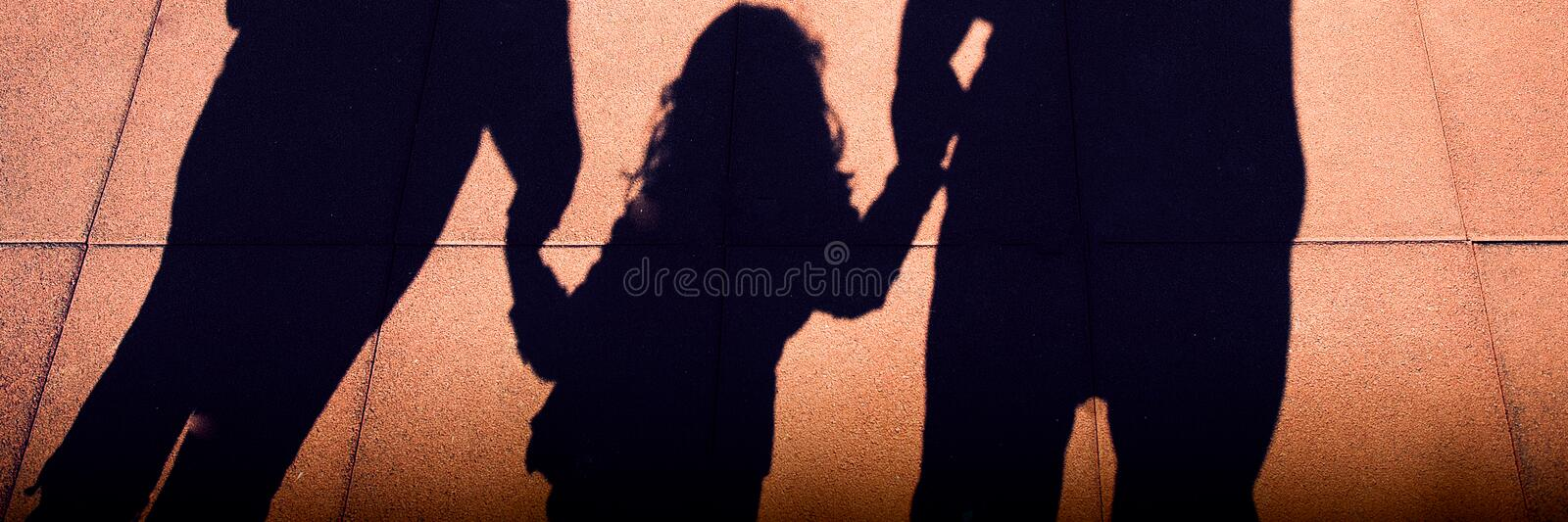 Family silhouettes stock photography
