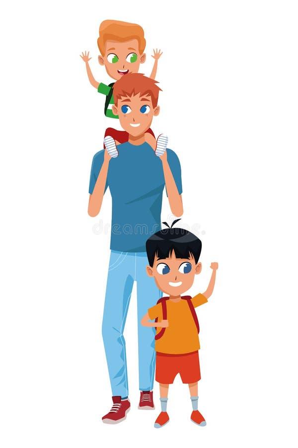 Single Parent Family Portrait Stock Illustrations - 356 ... (600 x 900 Pixel)