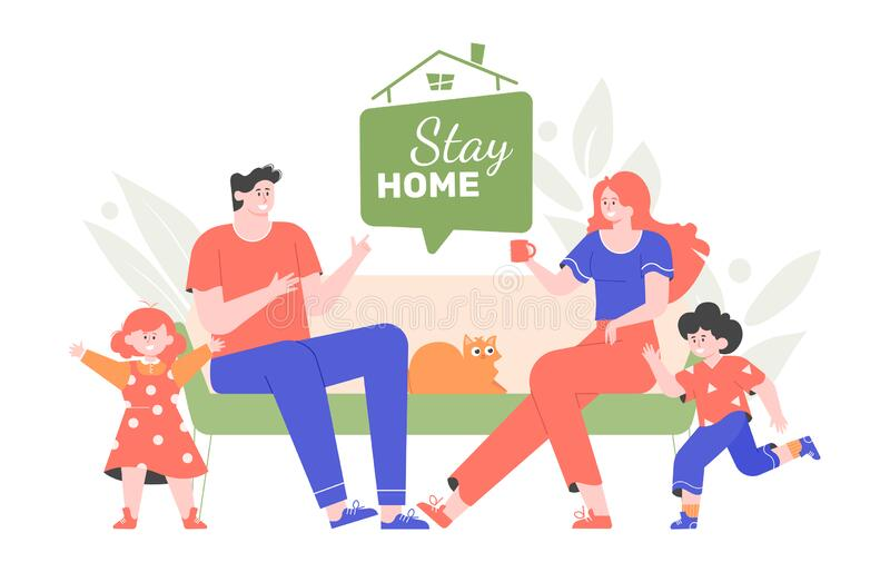 Family Stay Stock Illustrations 7 396 Family Stay Stock Illustrations Vectors Clipart Dreamstime