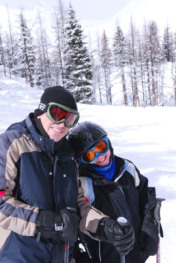 Family Skiing Royalty Free Stock Photo
