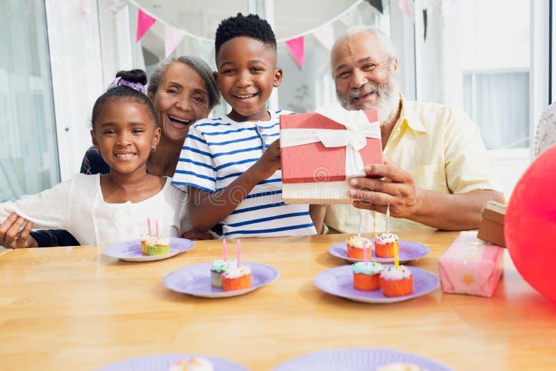 family smiling stock photos