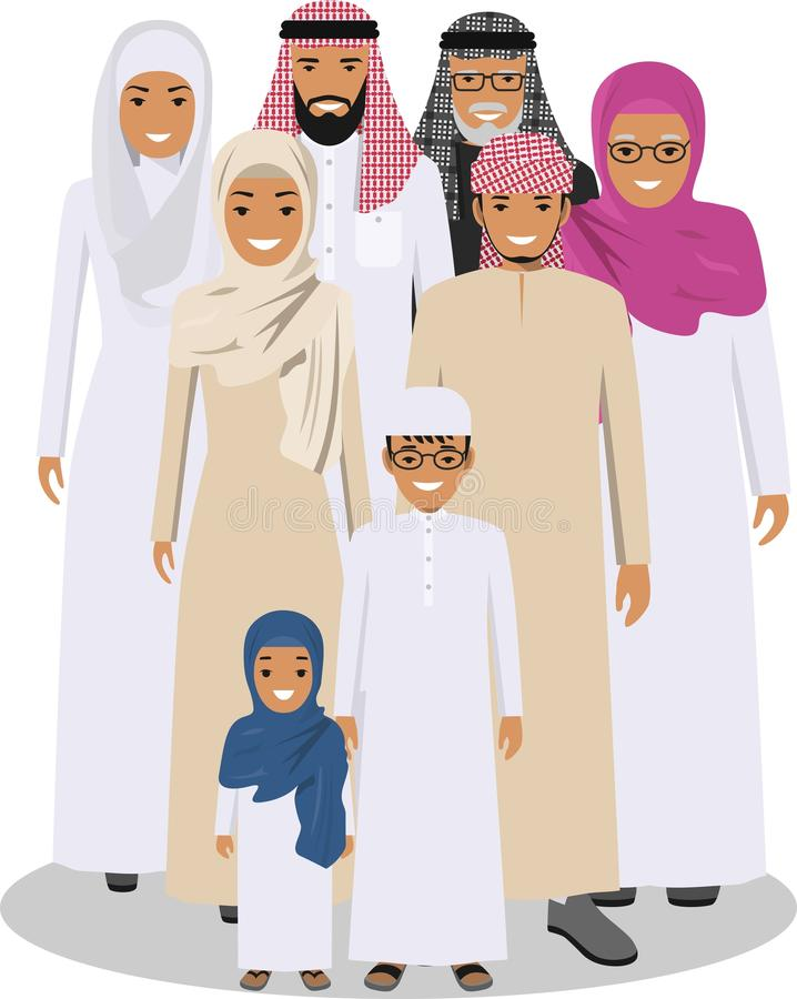 Family and social concept. royalty free illustration