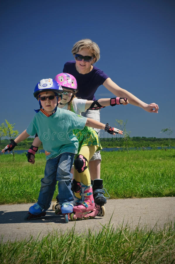 Family sport royalty free stock images