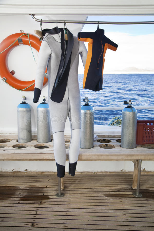Download Family Sport: Diving Suits For Parent And Child Stock Image - Image: 23090459