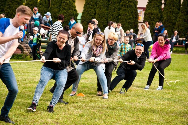Family sport picnic royalty free stock image