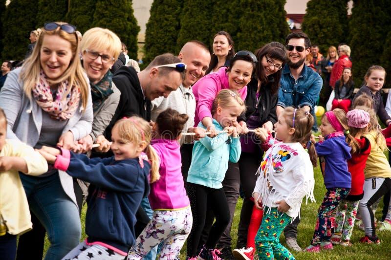 Family sport picnic stock image