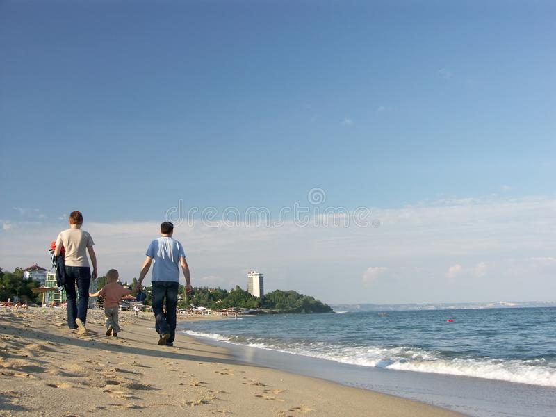 Stock Image  Family Stroll Along Seashore Picture. Image  1256861 f762fbdb5d