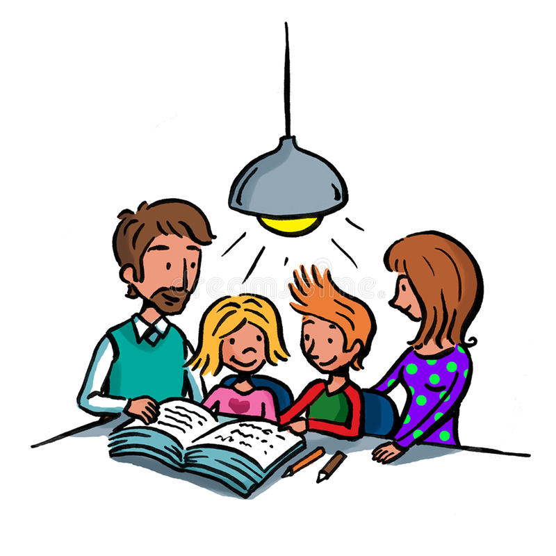 Family studies royalty free stock photography