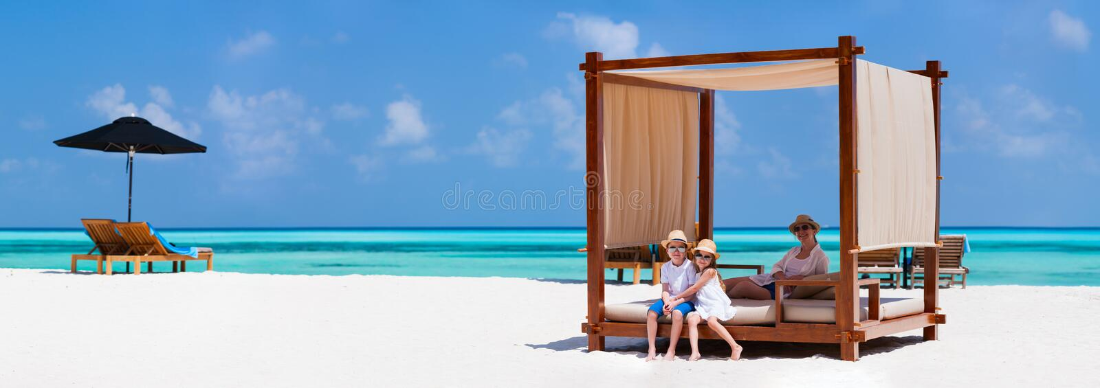Download Family on summer vacation stock photo. Image of enjoyment - 40163808