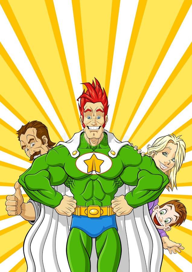 Family superhero royalty free stock photos