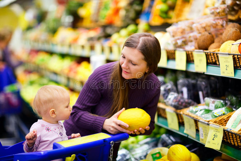 Download Family in supermarket stock image. Image of buying, department - 10980895