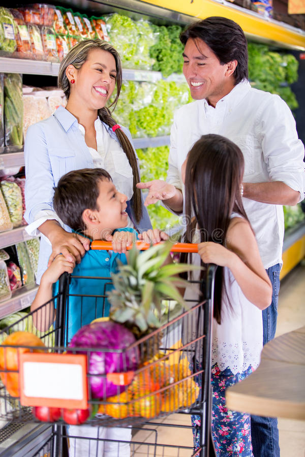 Download Family at the supermarket stock image. Image of latinamerican - 29037263