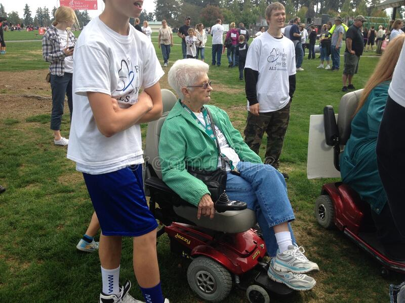 Family Support for ALS Walk stock image