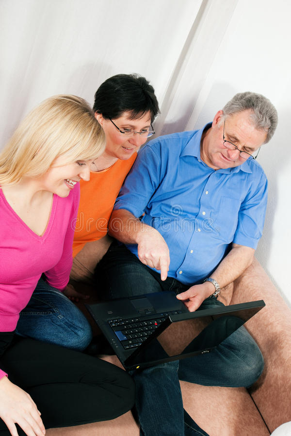 Download Family Surfing The Internet Stock Photo - Image: 12330820