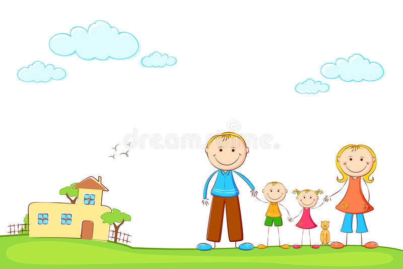 Download Family In Sweet Home Stock Photo - Image: 25996050