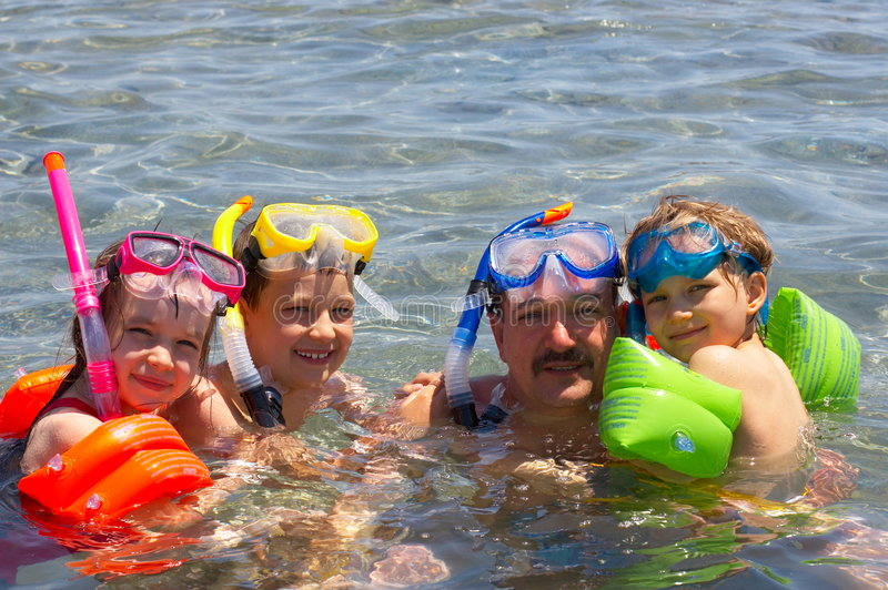 Download Family swim stock image. Image of recreation, young, goggles - 2632861
