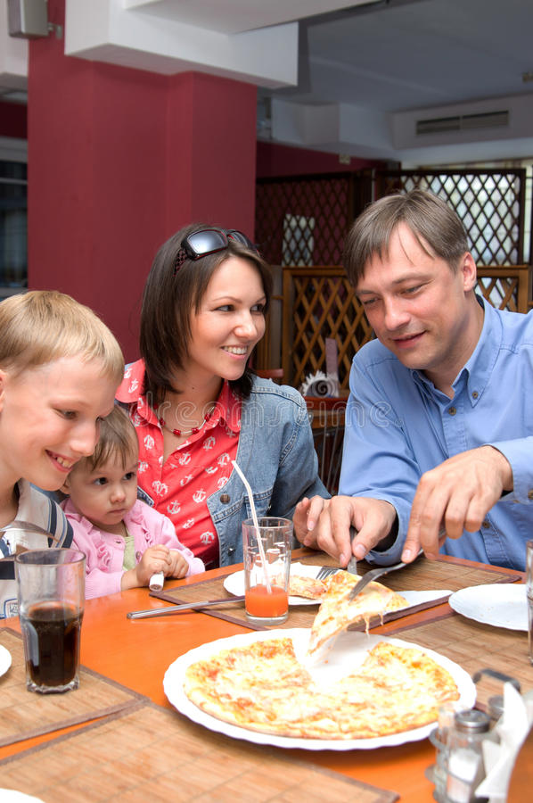 Family At Table Stock Image