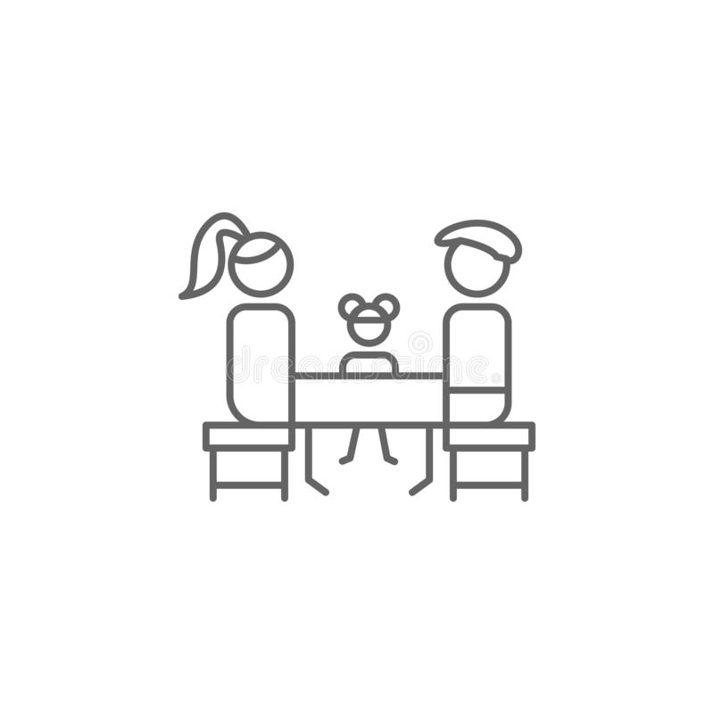 Family, table, restaurant icon. Element of restaurant icon. Thin line icon for website design and development, app development. stock illustration