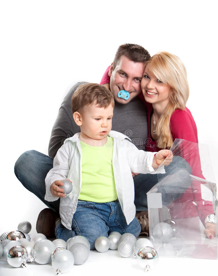 family taking a break and relaxing stock photo