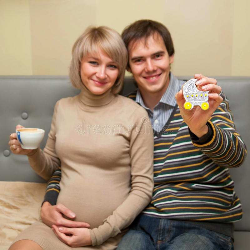 Download Family tea. stock image. Image of parent, couch, father - 27313835