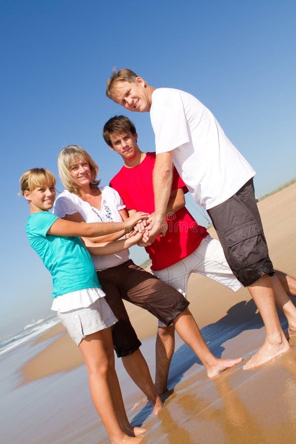 Family teamwork royalty free stock photos
