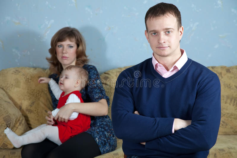 Family quarrel royalty free stock images