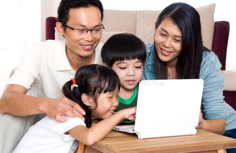 Family time stock image