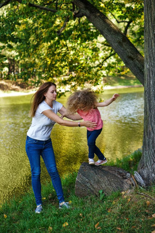 Family time. Mother and daughter stock images