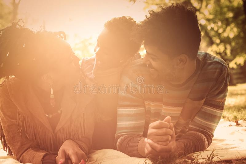Family time in nature. stock photography